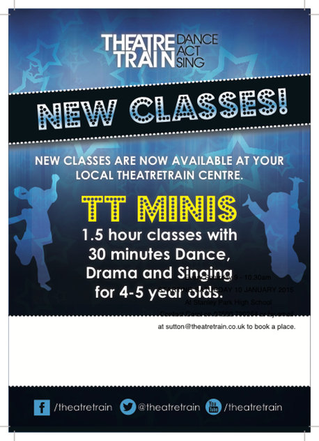 Theatretrain NEW CLASSES A5 leaflet v2 MINIS PRINT Family Grapevine